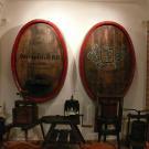 Dna beczek w Muzeum Wina